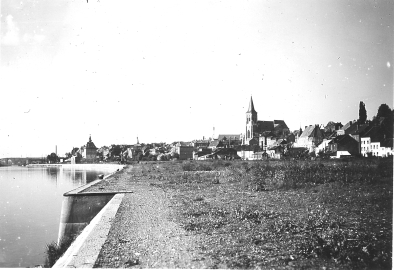Visé en 1940 vue depuis Souvré